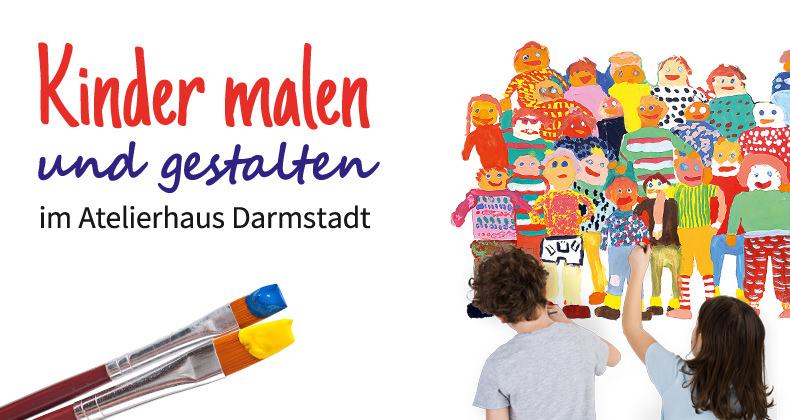 Kinder malen und gestalten im Atelierhaus Darmstadt